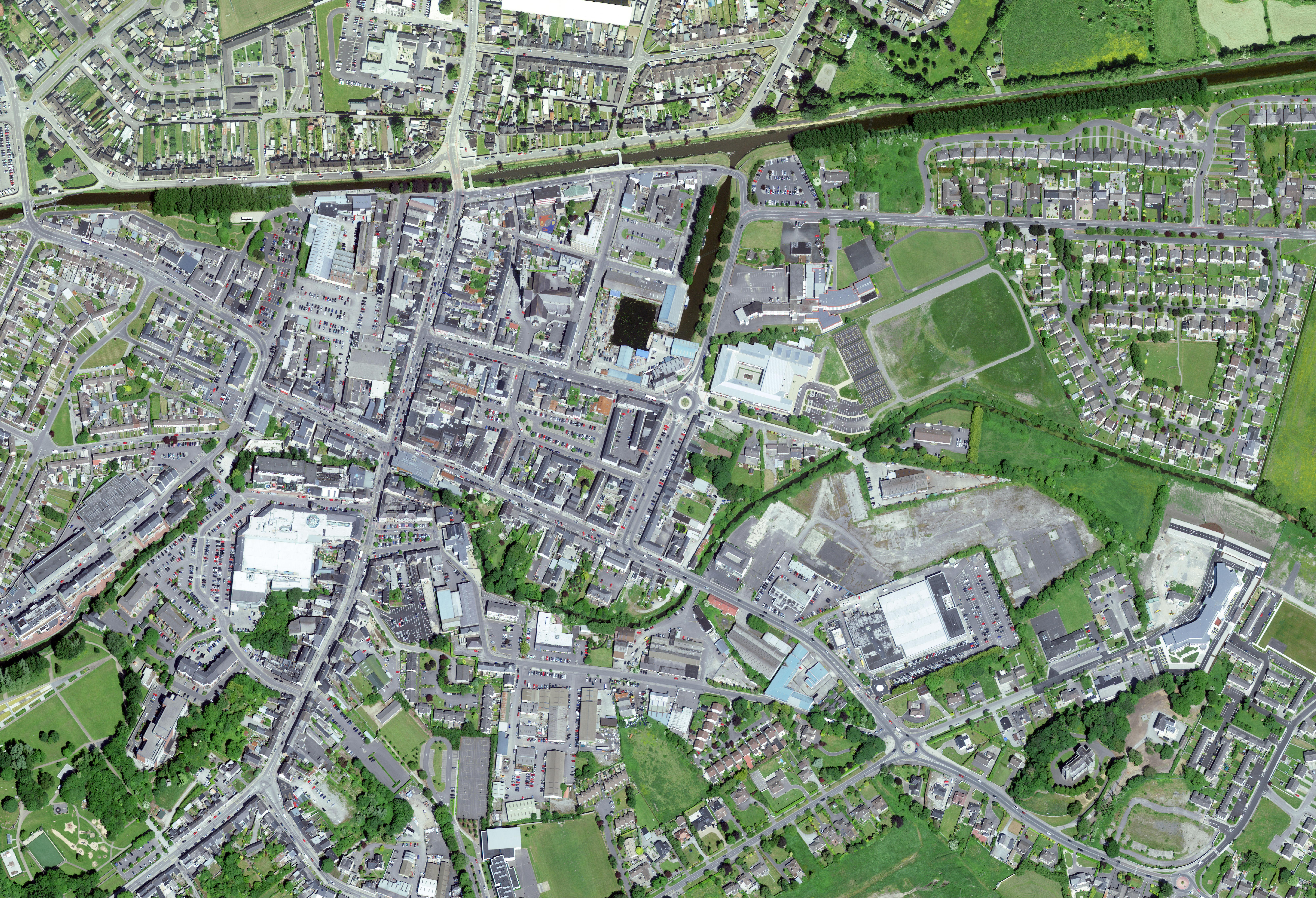 Aerial photo of Tullamore