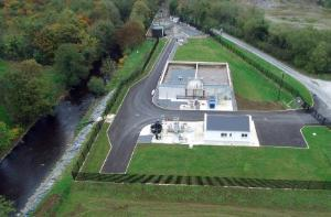 Aerial photo of Convoy WWTP