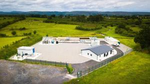 Aerial photo of Tubbercurry WWTP