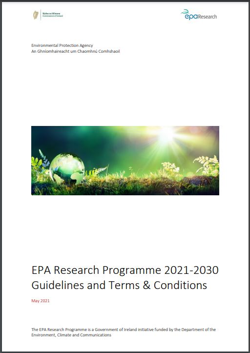EPA Research Call 2021 guidelines