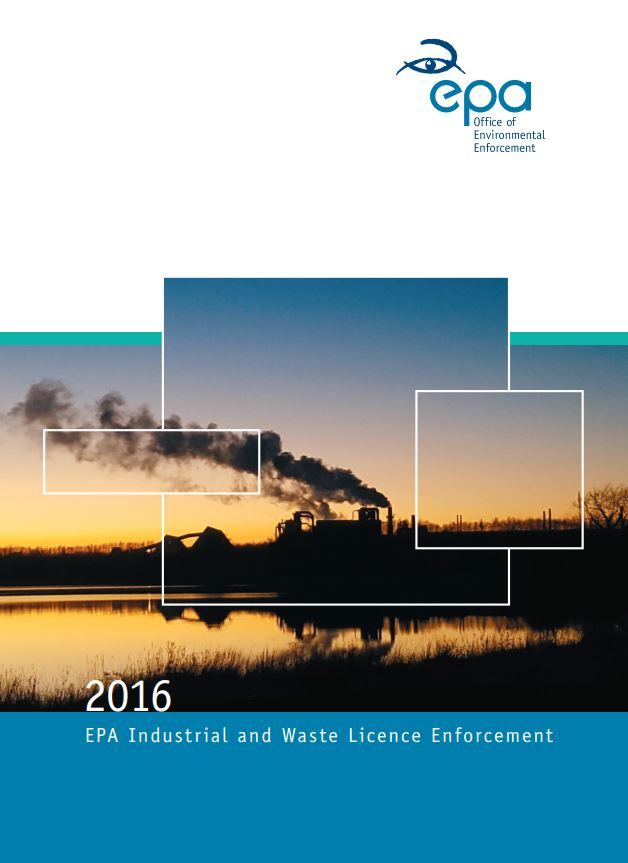 2016 Industrial & Waste Report Cover