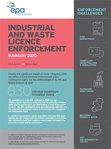 Industrial and Waste Licence Enforcement - 2020 Summary Report cover