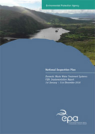 National Inspection Plan Domestic Waste Water Treatment Systems cover