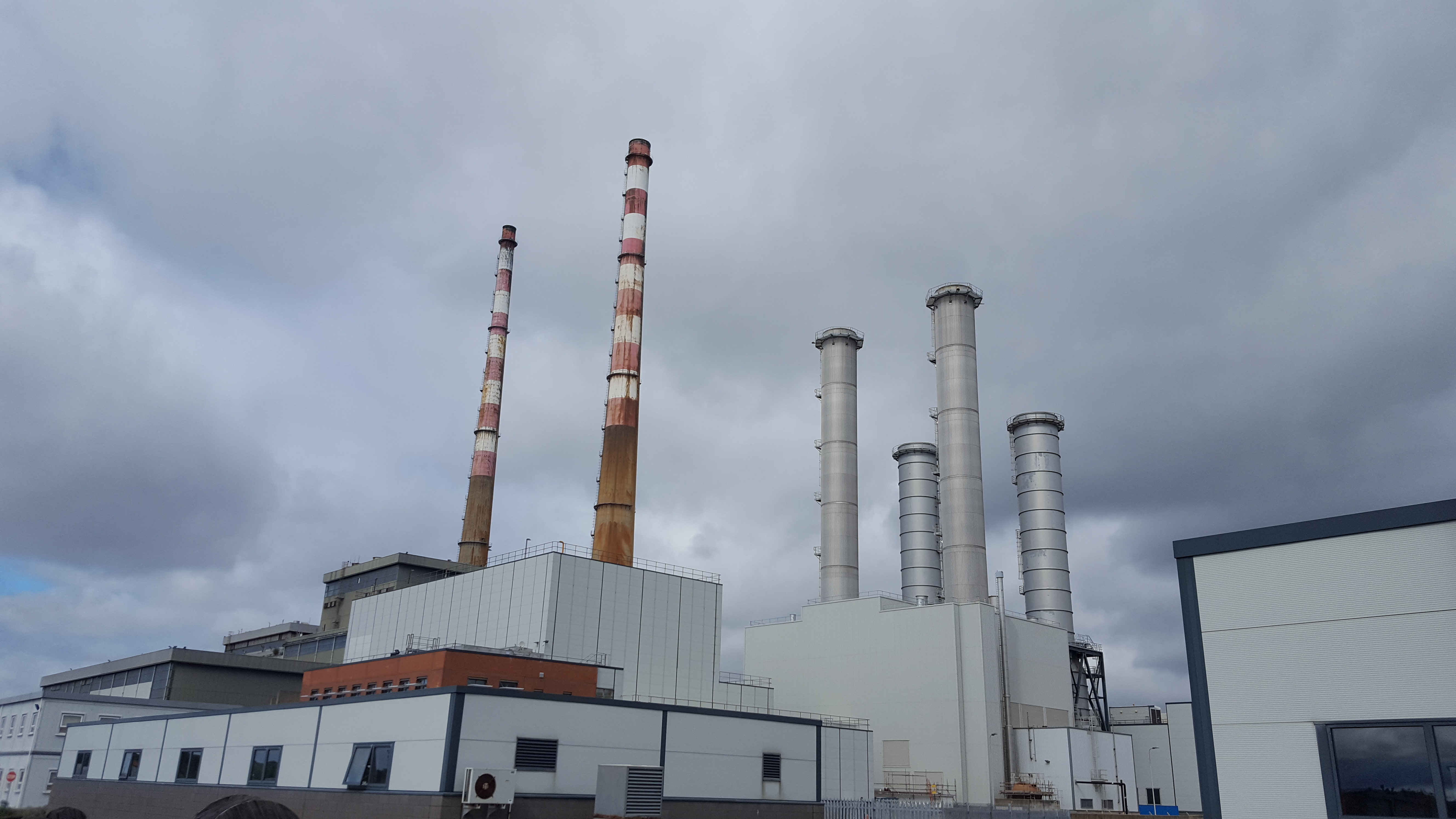Historical and recent power station stacks