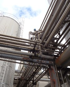 Pipes in an industrial setting