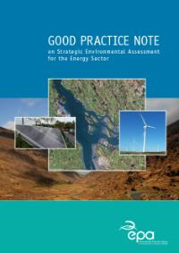 Good practice note on SEA for the Energy Sector cover