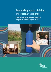 Report cover with a water bottle