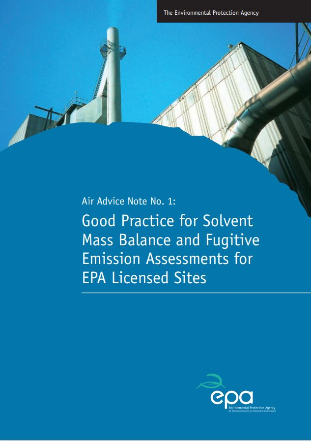 cover image for report on Solvent Mass Balance Guidance