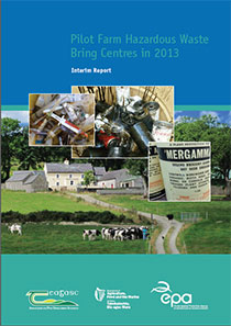 Report cover with  picture of a farm and items of waste
