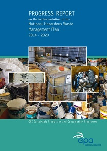 Report cover with pictures of waste