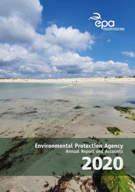 report  cover with a beach