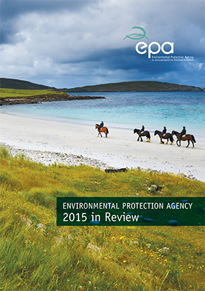 Report cover with horse riders on a beach