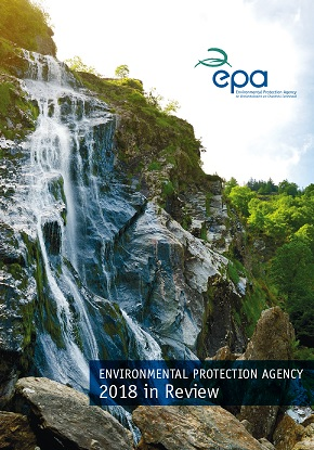 report cover with waterfall
