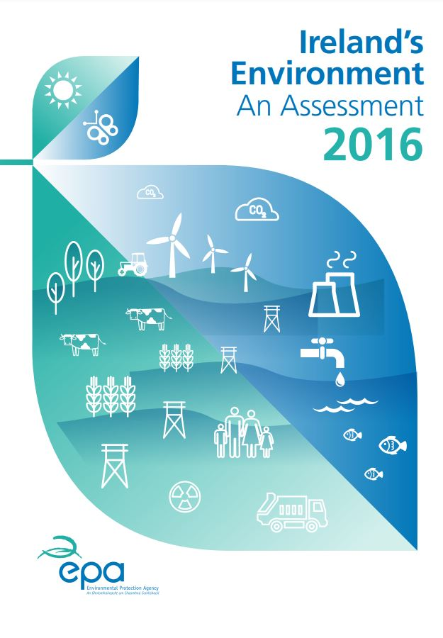 Report Cover with environment icons