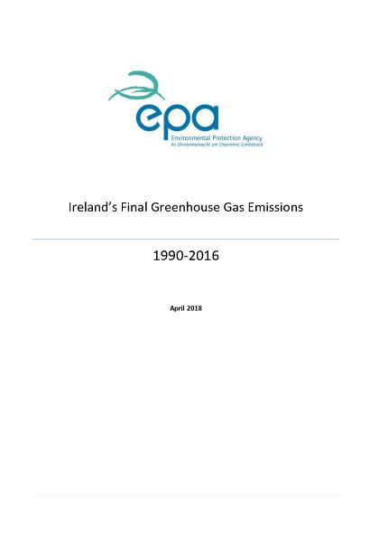 Irelands GHG Emissions 2016