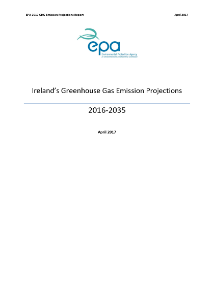 Ireland's Greenhouse Gas Emission Projections 2016-2035