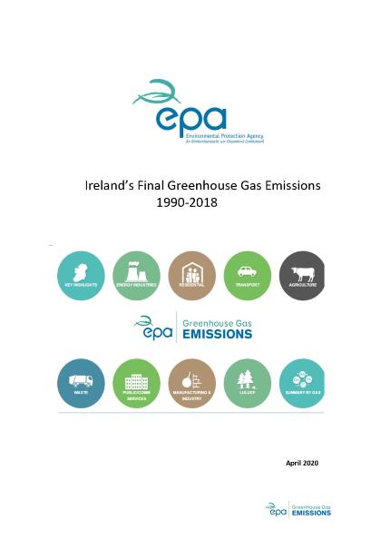 Ireland's GHG Emissions Final 1990-2018