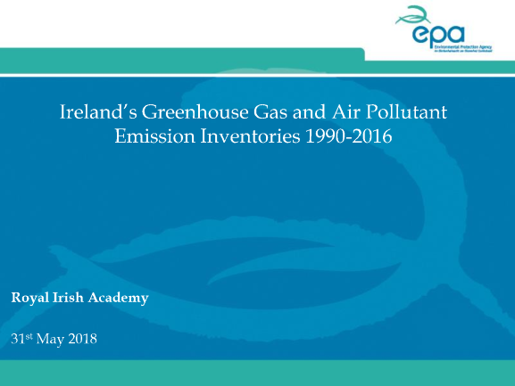 Ireland's Greenhouse Gas Emissions Projections 2017-2035 Presentation