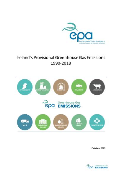 Ireland's Provisional GHG Emissions 1990-2018