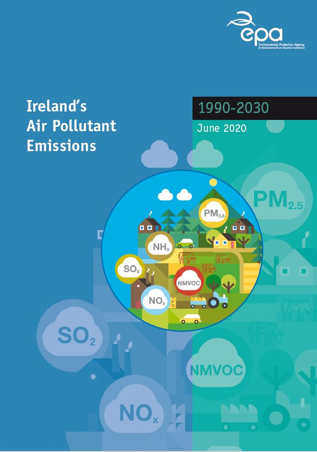 Irelands air pollutants emissions 1990-2030