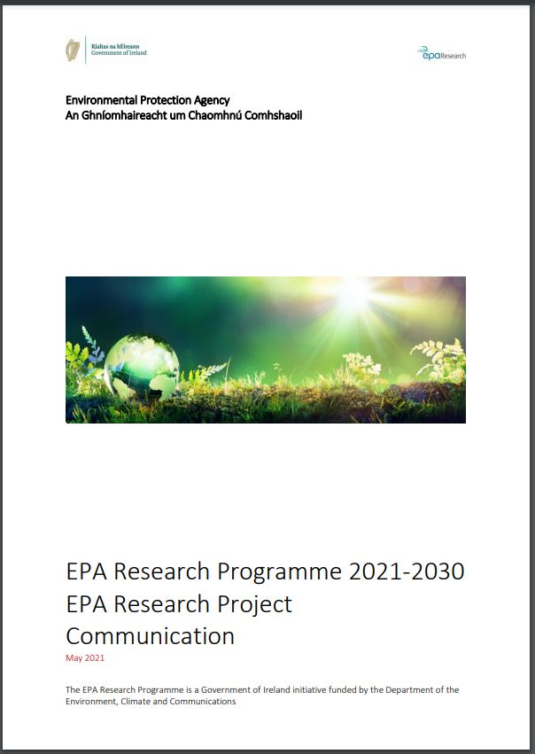 Communication report cover