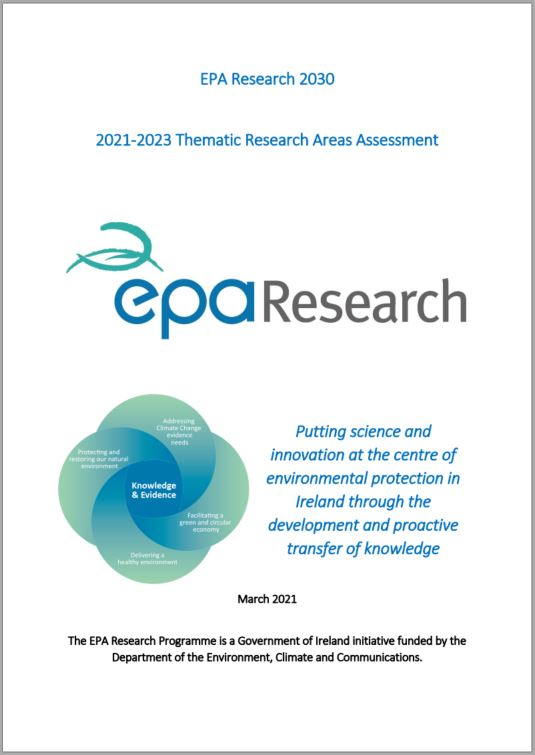 Research areas assessment front cover