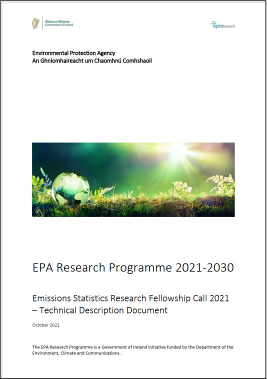 Emissions Statistics Research Fellowship Call 2021 cover