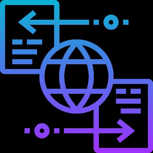 icon representing data exchange